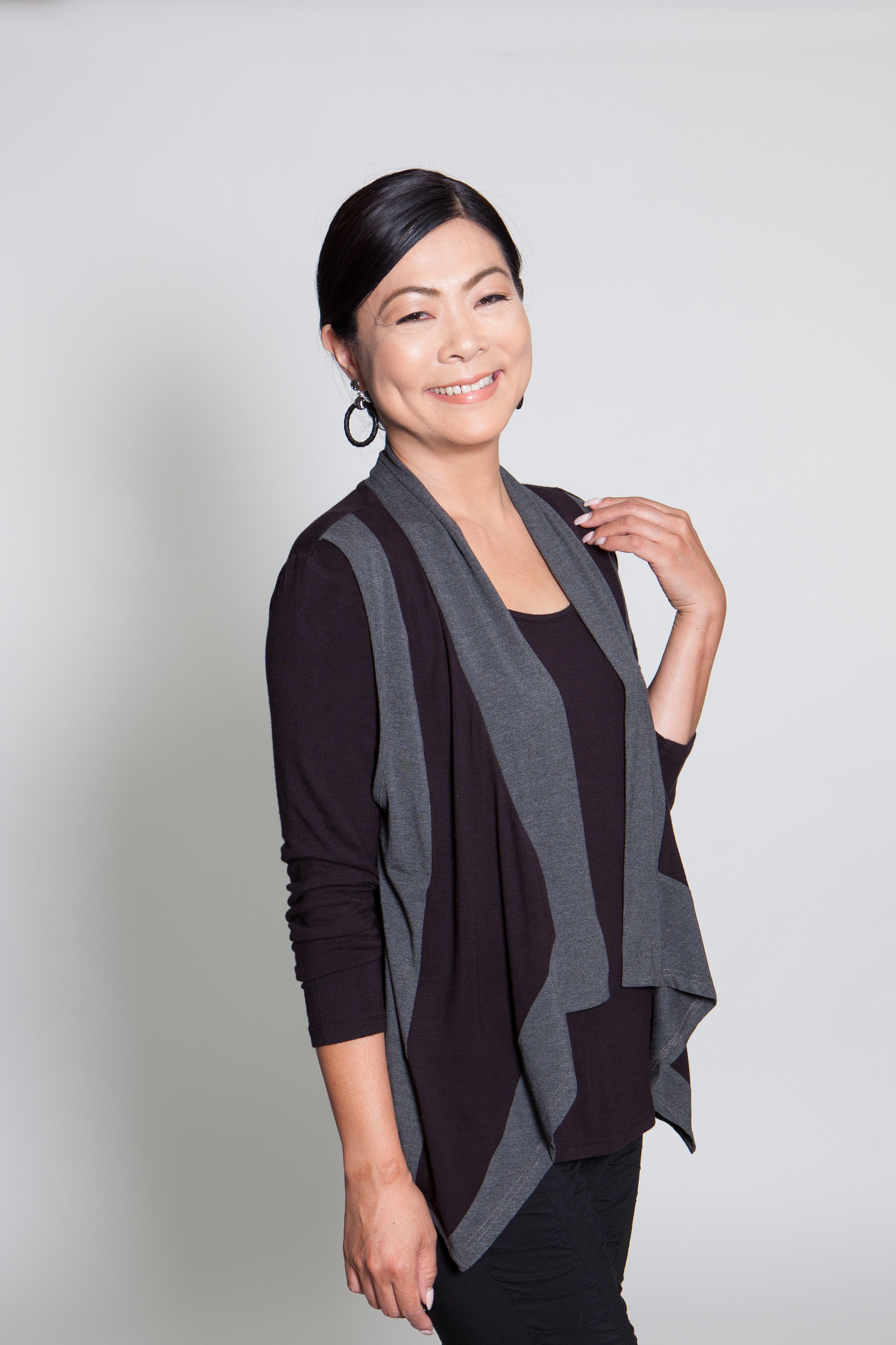 Top - Black/Gray - CARINE