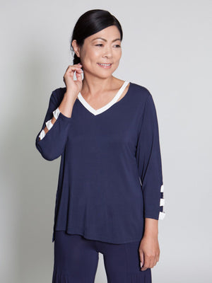 Fiona Top - Navy - CARINE
