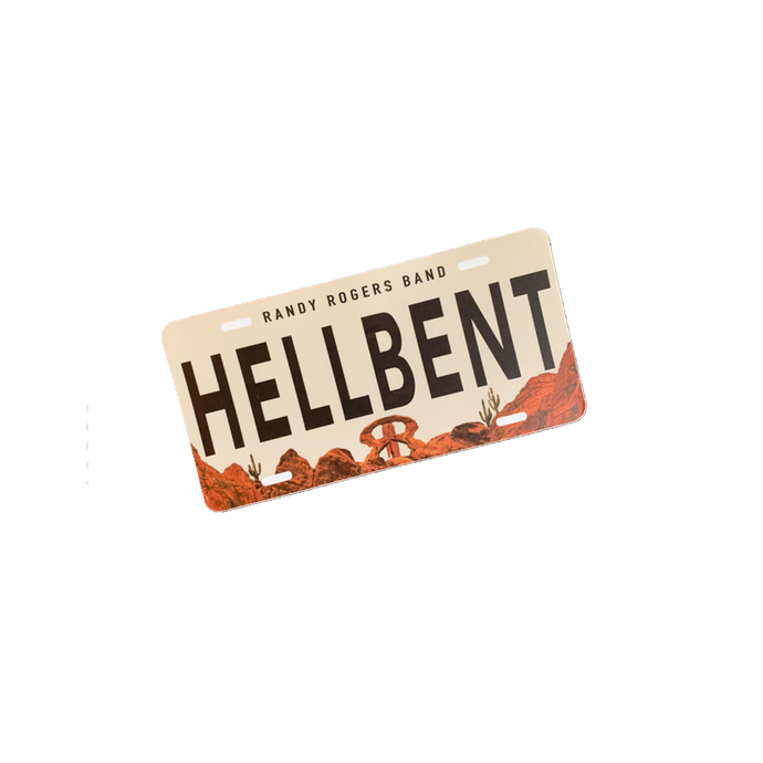 Hellbent License Plate Sticker