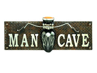 Man Cave Motorcycle 3D Wall Plaque