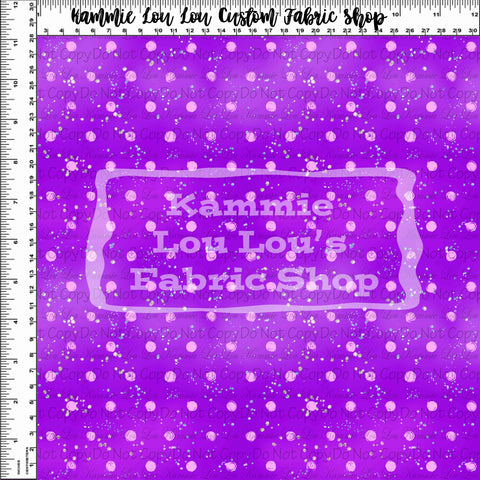 Endless Essentials Pre-Order: Kammieland Most Requested - Watercolor Dots Violet