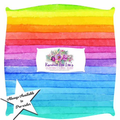 Endless Essentials Pre-Order: Kammieland Most Requested - Watercolor Rainbow Stripes