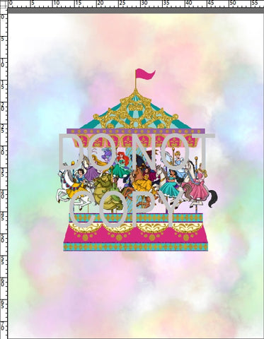 R96 Pre-Order Carousel Dreams - Adult Blanket Panel (58x72)