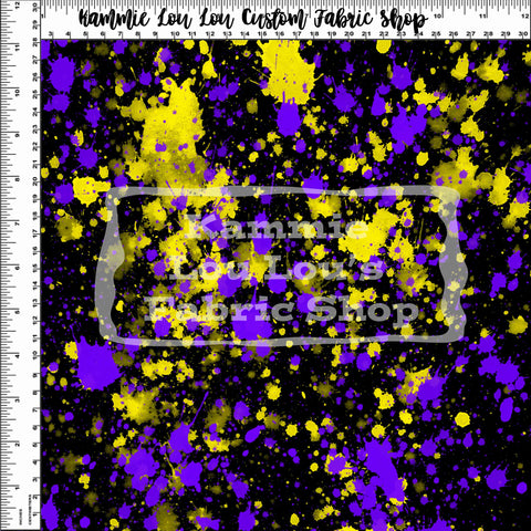 Endless Essentials Pre-Order: Paint Splatter - Purple Yellow Remix