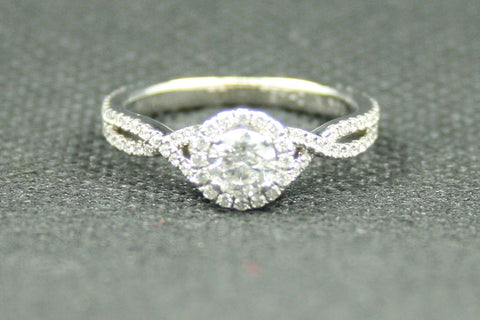 1.03ctw. MICHAEL HILL ROUND DIAMOND HALO STYLE ENGAGEMENT RING