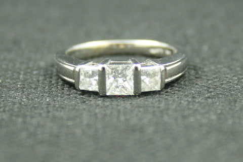 1.13 TW 3 PRINCESS CUT TENSION SET ENGAGEMENT RING