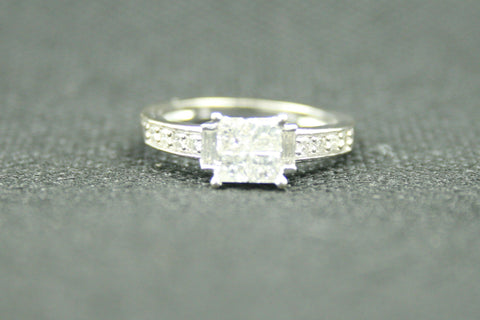 0.72TCW PRINCESS INVISIBLE SET ENGAGEMENT RING