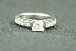 1 TCW PRINCESS CUT ENGAGEMENT RING