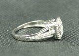 1.04 TCW INVISIBLE SET PRINCESS AND ROUND DIAMOND ENGAGEMENT RING