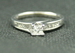 .77 TCW PRINCESS CUT DIAMOND BYPASS STYLE ENGAGEMENT RING