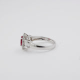 Gorgeous 18k White Gold, Ruby and Diamond Ring