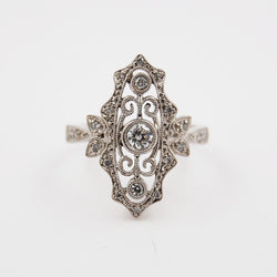 Antique Inspired Diamond Ring