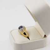 14k Sapphire and Diamond Statement Ring