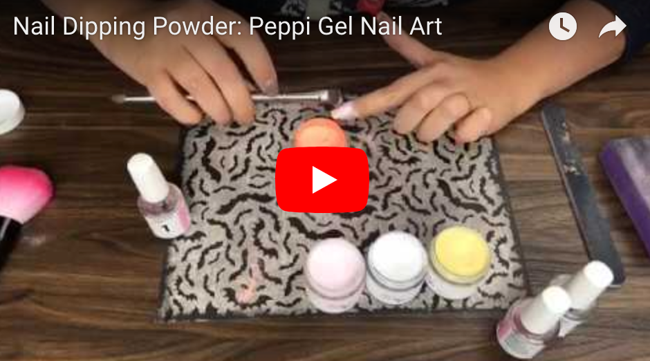 Ombre' Dip Powder Nails: Peppi Gel