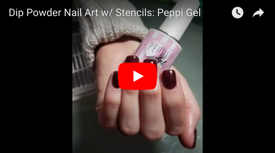 Dip Powder Nail Art w/ Stencils: Peppi Gel