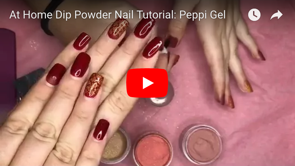 At Home Dip Powder Nails: Tutorial- Peppi Gel