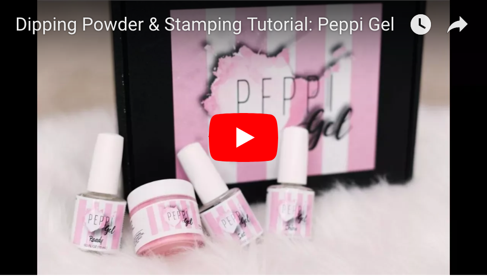 Dipping Powder & Stamping Tutorial: Peppi Gel