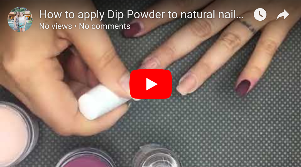 How To Apply Dip Powder on Natural Nails & Stamping: Peppi Gel
