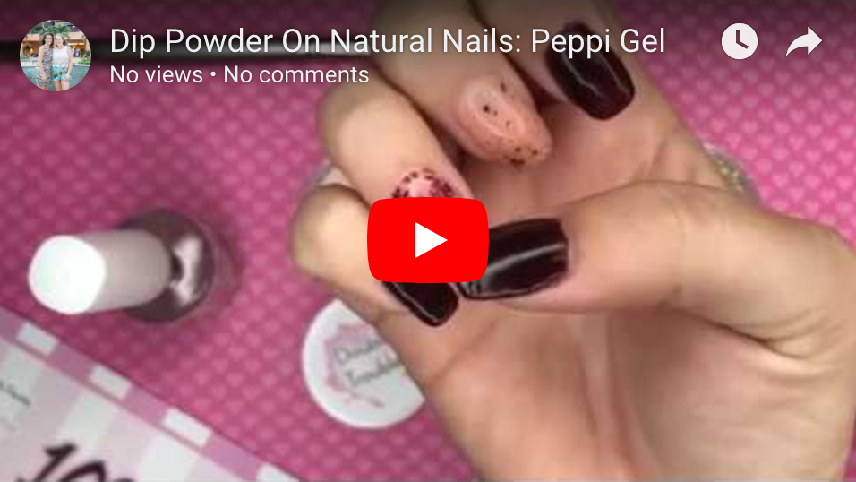 Dip Powder On Natural Nails: Peppi Gel