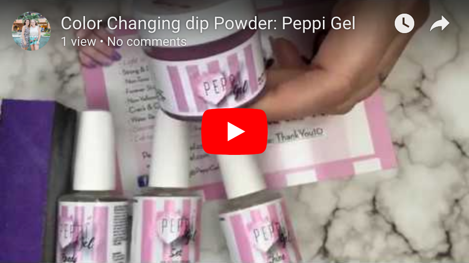 Color Changing Dip Powder: Peppi Gel