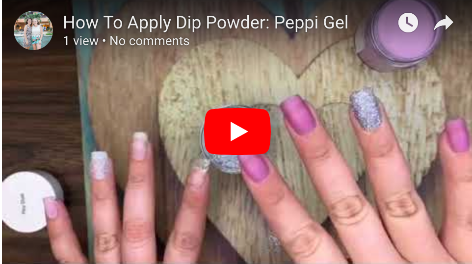 Neutral & Glitter Dip Powder: Peppi Gel