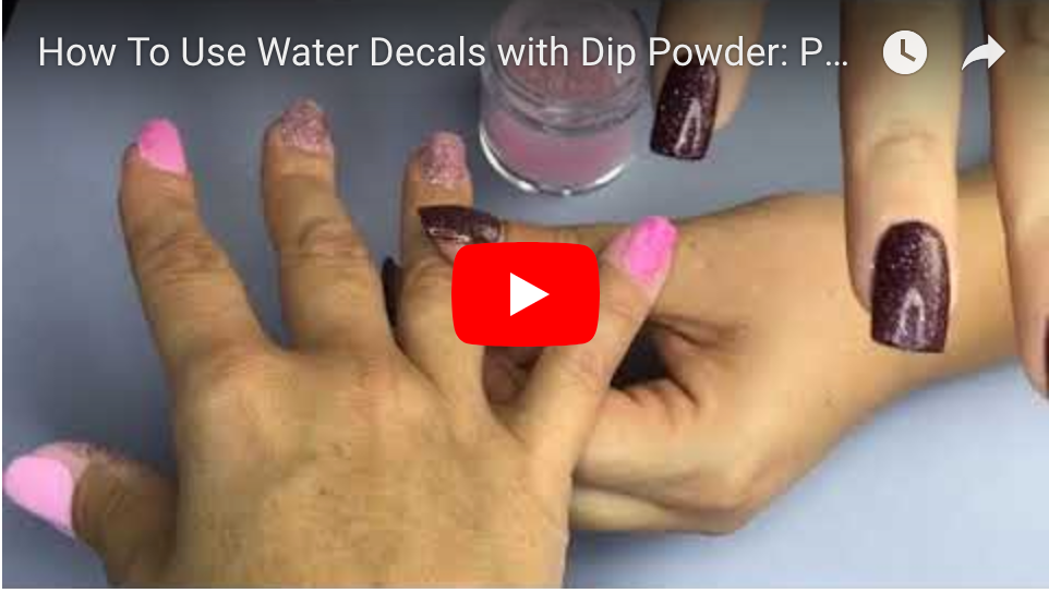 How To Use Water Decals with Dip Powder: Peppi Gel