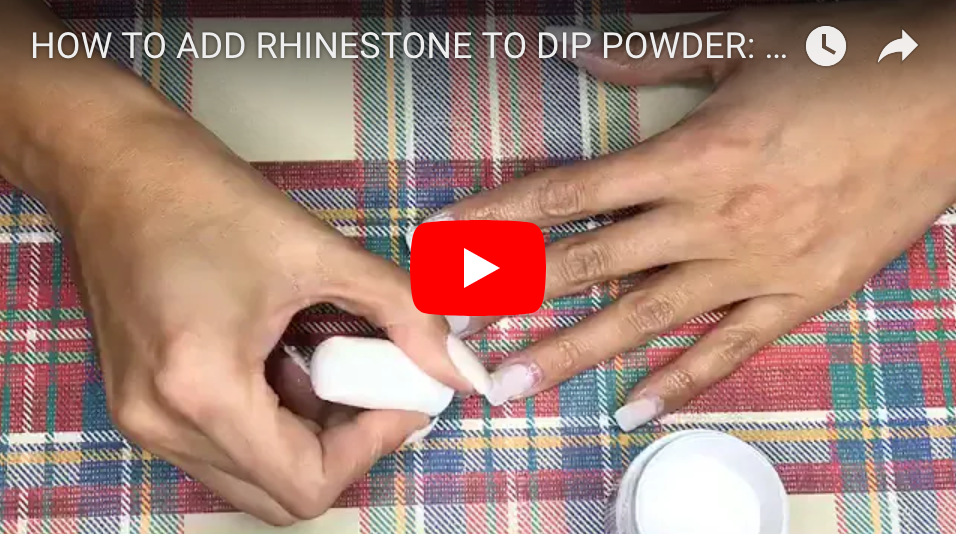 HOW TO ADD RHINESTONE TO DIP POWDER: PEPPI GEL