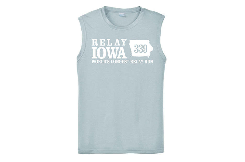 Relay Iowa ADULT Men's Sleeveless Performance Shirt - FREE SHIPPING