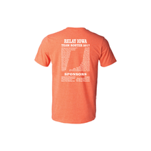 2017 Orange Event Participant T-Shirt with team names on the back - FREE SHIPPING