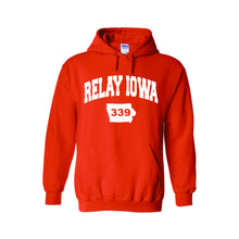 Relay Iowa ADULT Hoodie with Collegiate Design G185 - 6 Colors - FREE SHIPPING