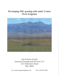 Center Pivot Grazing How-to-Guide