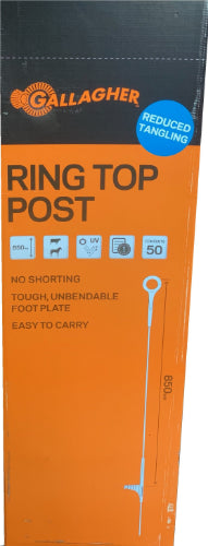 Box of 50 Gallagher Ring Top Step-In Posts