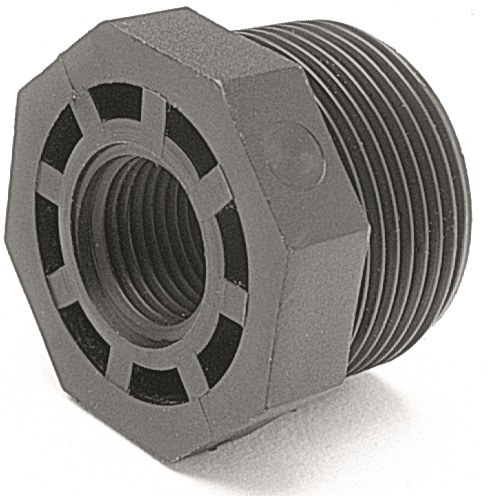 "1-1/2"" x 3 /4"" Reducing Bush - PP Threaded Fitting"