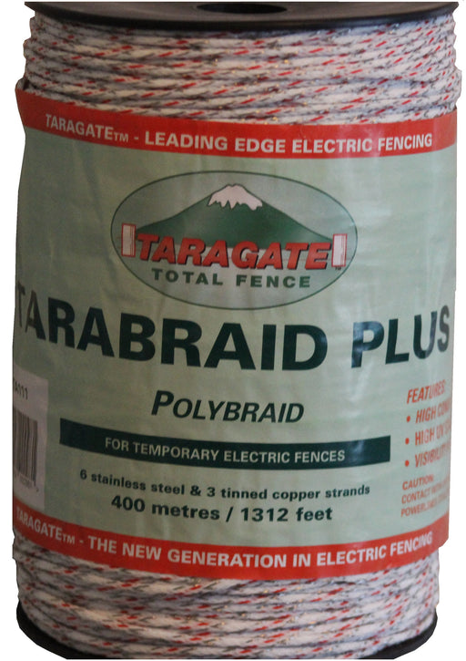 TaraBraid Mixed-Metals 1312' w/ 6 Stainless steel & 3 Tinned-Copper Conductors, Red & White