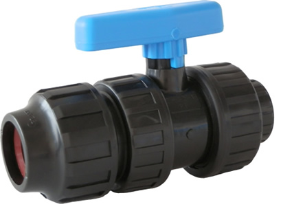 "1"" PE Compression x 1"" Female NPT Valve IPS (SDR IPS HDPE PIPE ONLY)"