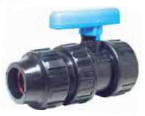 "1-1 /4"" PE C o m p x 1-1/4"" Female NPT Thread Valve IPS"