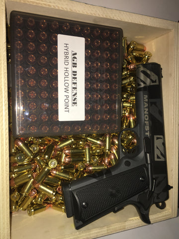 45 Auto, 185 gr HHP, AGB Defense (Free Shipping over $129 plus ammo box/can)