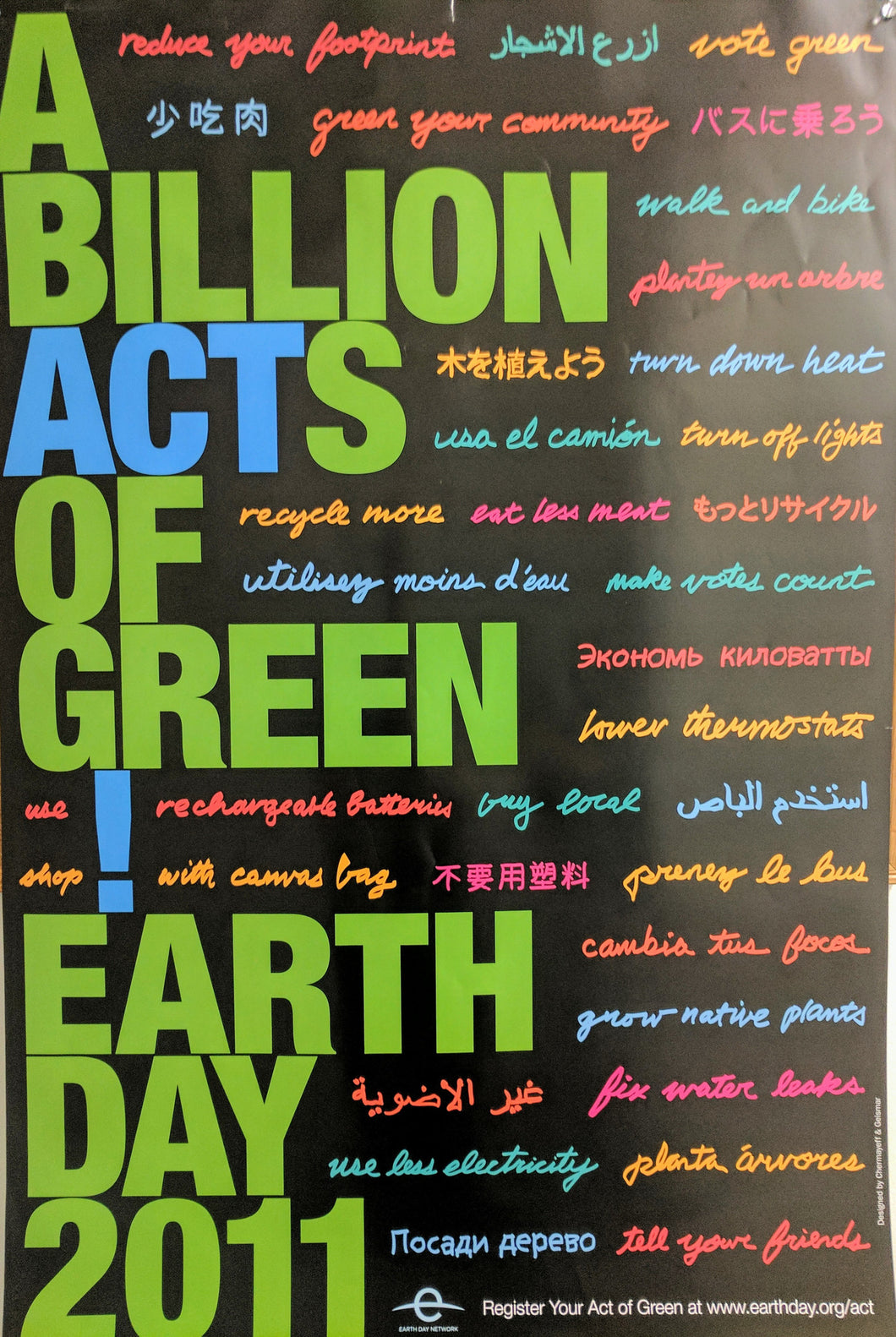 Billion Acts of Green Poster