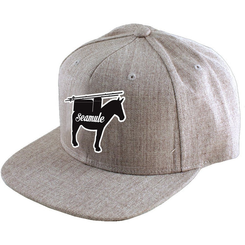 Heather Grey Snapback Hat - Seamule