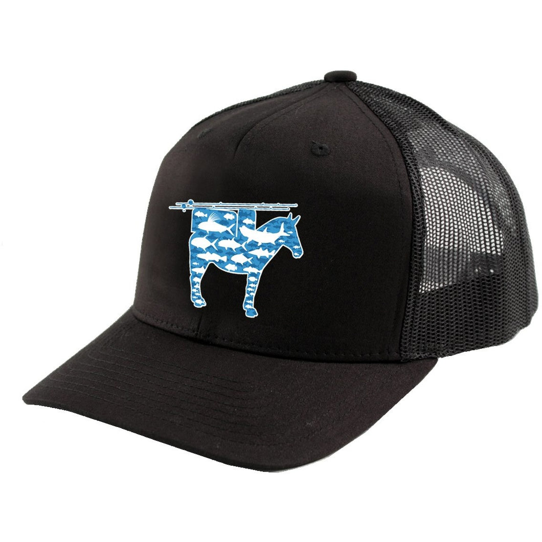 Trucker Mesh Snapback Hat with Mule Patch