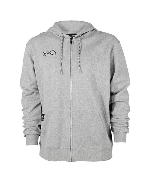 k1x hardwood zip hoody - grey heather