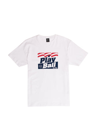 Play Ball Not War Tee - white
