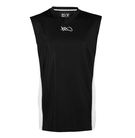 k1x hardwood league uniform jersey mk2 - black/white/silver