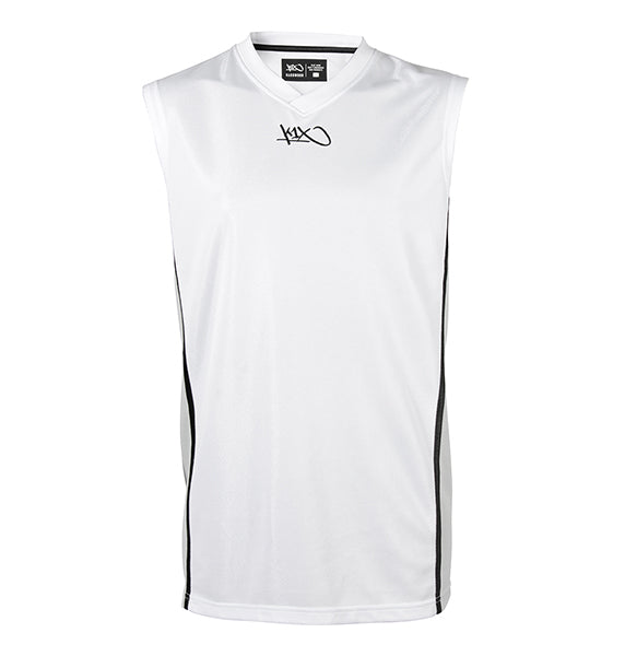 k1x hardwood league uniform jersey mk2 - white/silver/black