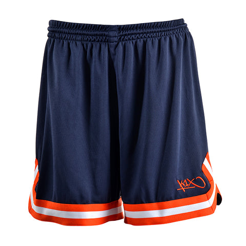 k1x hardwood ladies double x shorts - navy/flame/white