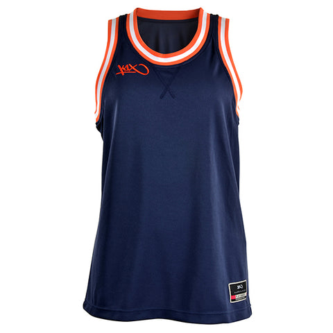 k1x hardwood ladies double x jersey - navy/flame/white