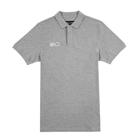 k1x hardwood coaching polo - heather grey