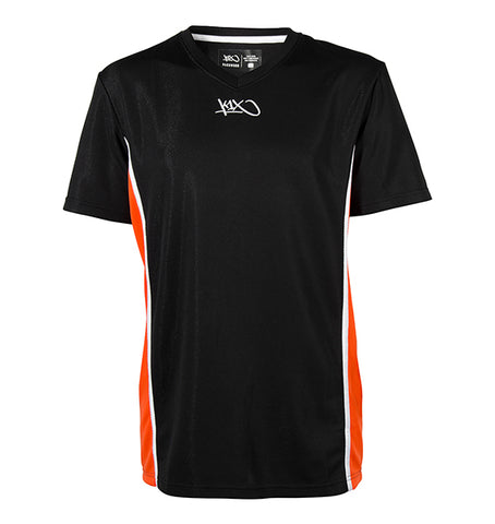 k1x hardwood league uniform shooting shirt mk2 - black/orange/white