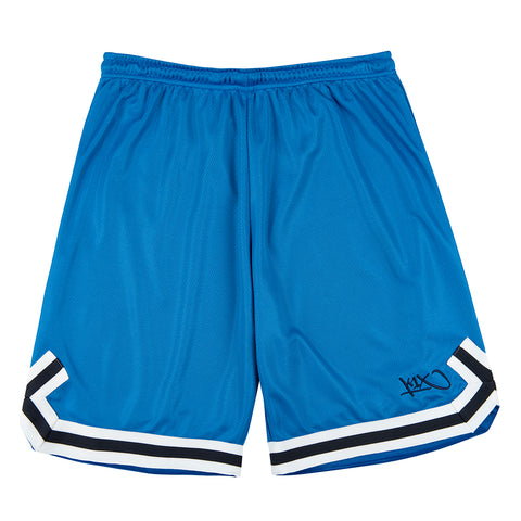hardwood double x shorts - royal/navy/white