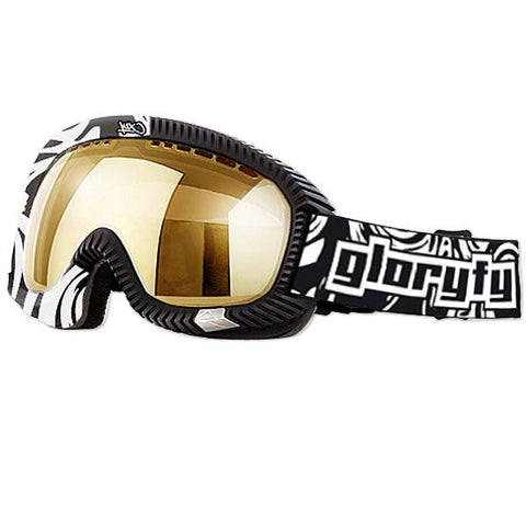 gloryfy x k1x gp2 dropwire goggle - black/white